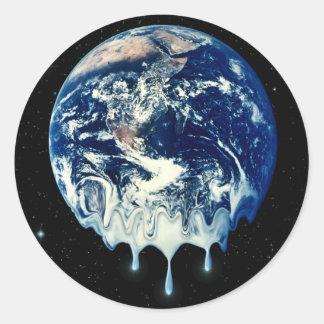 Global Warming II Round Stickers