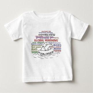 Global Warming impacts Polar Bear and cub Baby T-Shirt