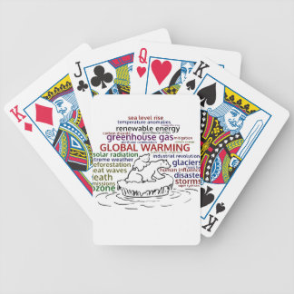 Global Warming impacts Polar Bear and cub Bicycle Playing Cards