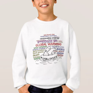 Global Warming impacts Polar Bear and cub Sweatshirt