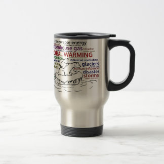 Global Warming impacts Polar Bear and cub Travel Mug