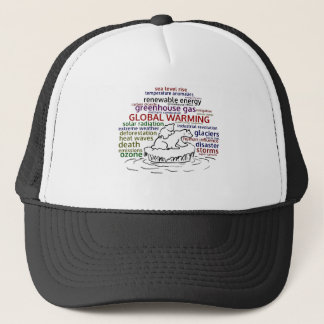 Global Warming impacts Polar Bear and cub Trucker Hat