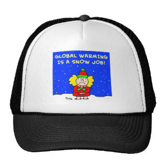 global warming is a snow job mesh hat