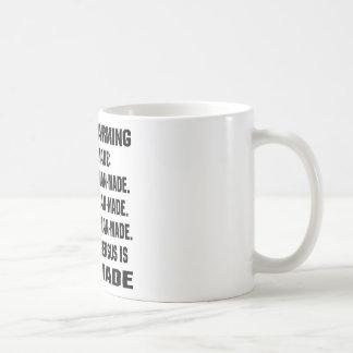 Global Warming Is Man-Made Basic White Mug