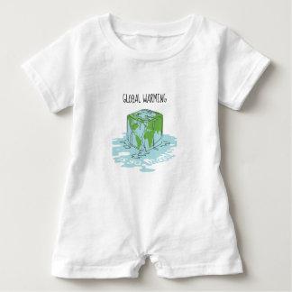Global Warming is so Uncool Baby Bodysuit