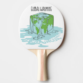 Global Warming is so Uncool Ping Pong Paddle