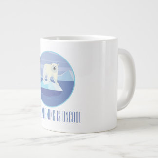 Global Warming Is Uncool Large Coffee Mug