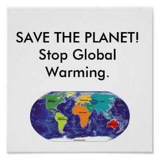 Global Warming. Poster