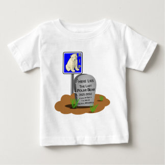 Global Warming,RIP Polar Bear 2050 Baby T-Shirt