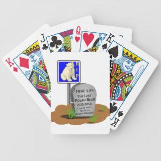 Global Warming,RIP Polar Bear 2050 Bicycle Playing Cards
