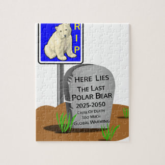 Global Warming,RIP Polar Bear 2050 Jigsaw Puzzle