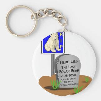Global Warming,RIP Polar Bear 2050 Key Ring