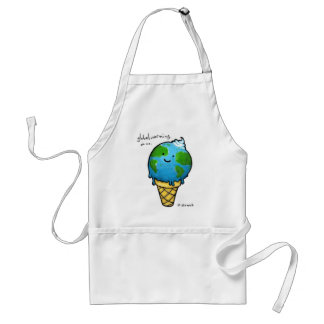 Global Warming Standard Apron