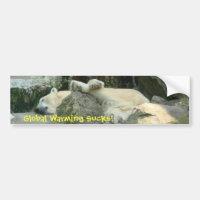 Global Warming Sucks! Polar Bear Bumpersticker
