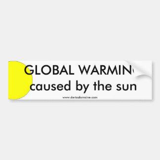 Global Warming Sun Bumper Sticker