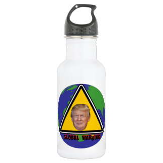 Global Warning Stainless Steel Water Bottle
