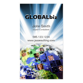 Global Worldwide Network of People Business Card Template
