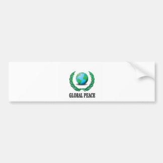 global wreath bumper sticker