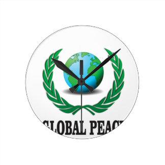 global wreath wallclock