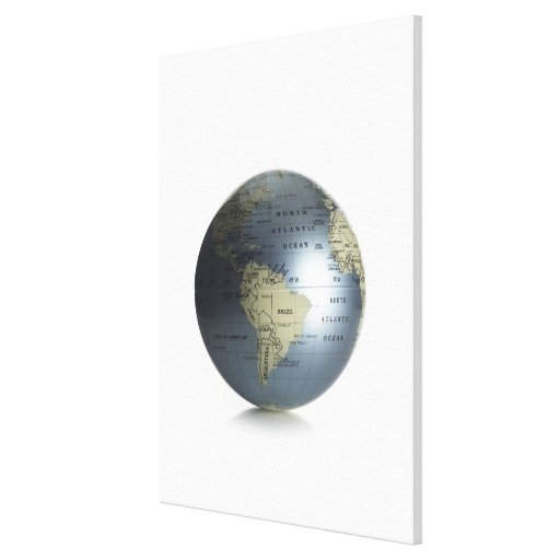 Globe 3 stretched canvas print