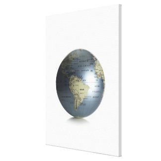 Globe 3 stretched canvas prints