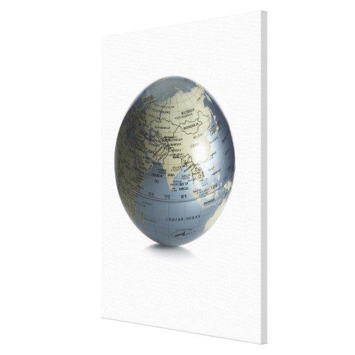 Globe 4 stretched canvas prints
