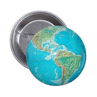 Globe 6 Cm Round Badge