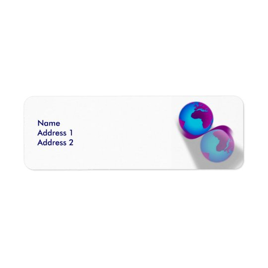Globe Avery Label Return Address Label