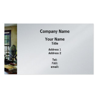 Globe, Books and Lamps - Platinum Finish Pack Of Standard Business Cards