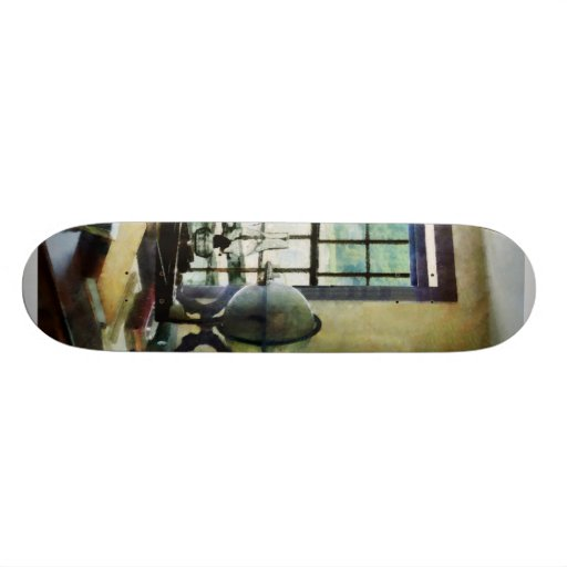 Globe, Books and Lamps Skate Deck