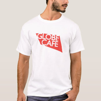 Globe Cafe red white T-Shirt