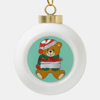 Globe Christmas Ornament Teddy Bear