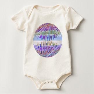 GLOBE Earth :  Holy Purple Light Show Baby Bodysuit