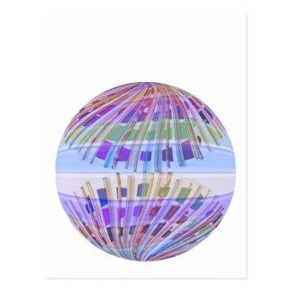 GLOBE Earth :  Holy Purple Light Show Postcard