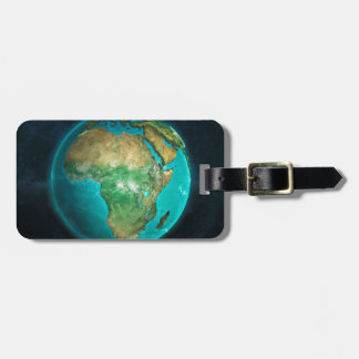 Globe Flat Africa Luggage Tag
