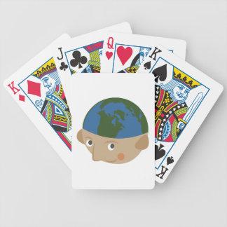Globe Head Poker Deck