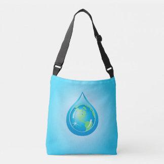 Globe In Waterdrop Crossbody Bag