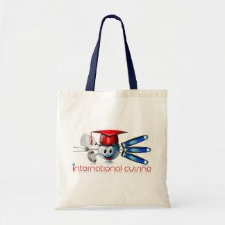 Globe international cuisine budget tote bag