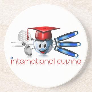 Globe international cuisine coasters