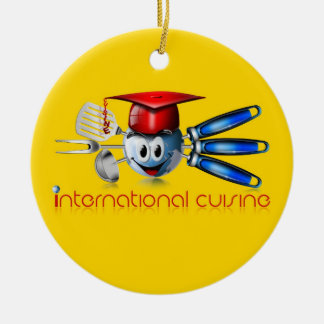 Globe international cuisine ornament