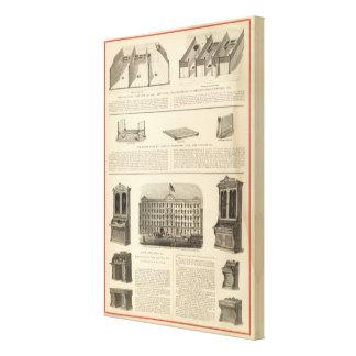 Globe Iron Foundry Woven Wire Mattress Company Canvas Print