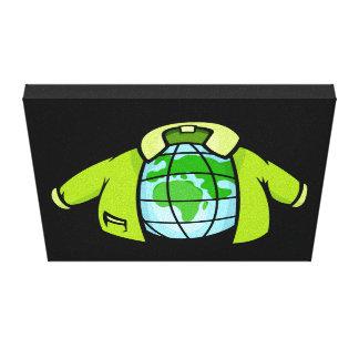 Globe Jacket Canvas Print