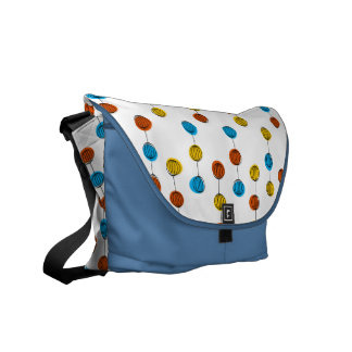 Globe Lines messenger bag blue