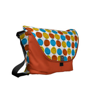 Globe messenger bag orange