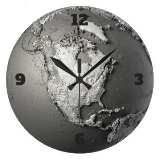 Globe Model. North America Large Clock