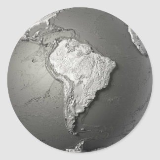 Globe Model. South America Classic Round Sticker