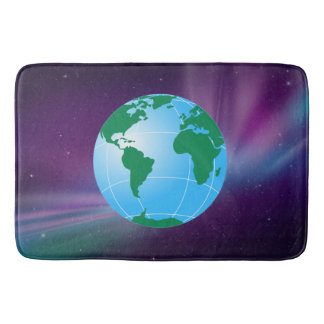 GLOBE OF EARTH BATH MATS