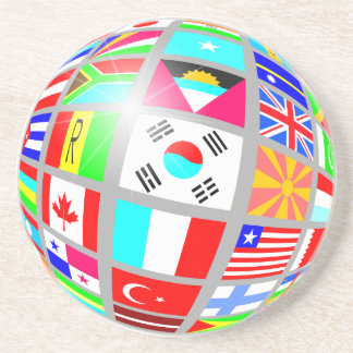 Globe Of Flags Coaster