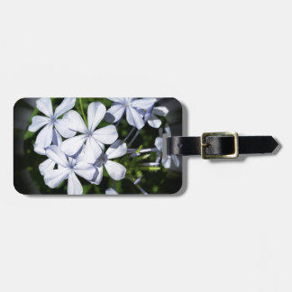 Globe of flowers luggage tag