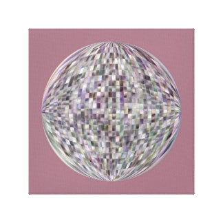 Globe of MultiColor Stained Glass - Mosaic Pattern Canvas Print